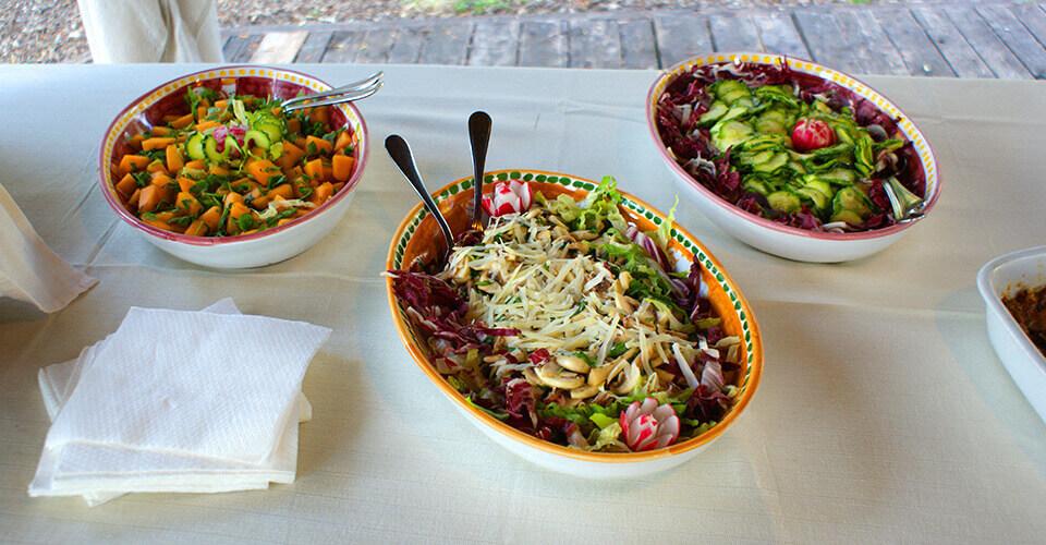 Tris di insalate