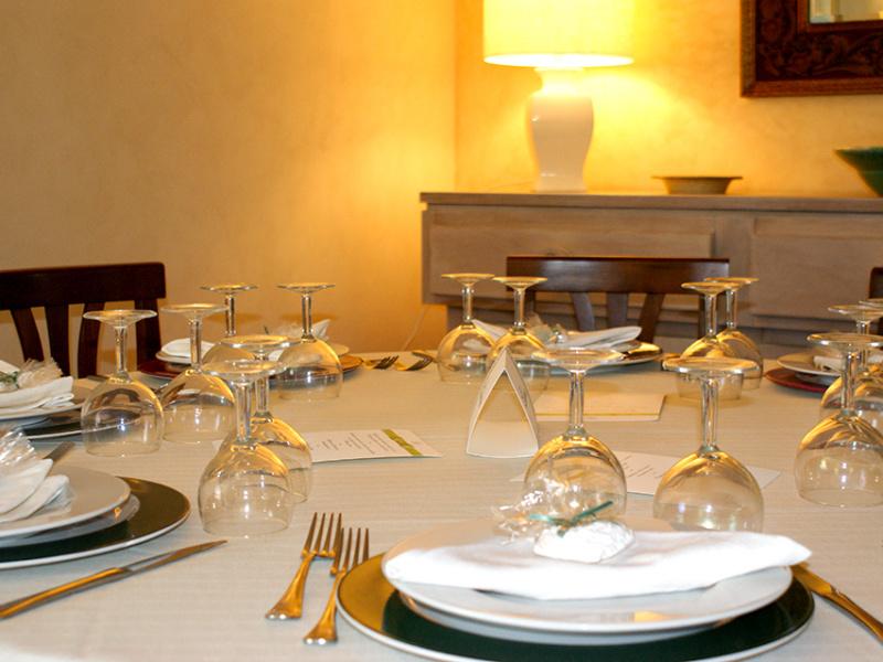 Eventi, tavolo apparecchiato